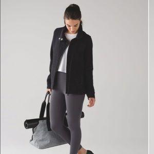 Lululemon Women Fleece Be True Jacket Black Sz 10